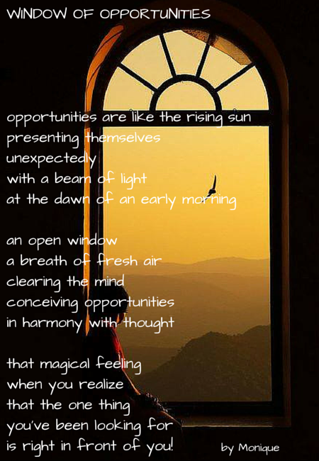 WINDOW OF OPPORTUNITIES